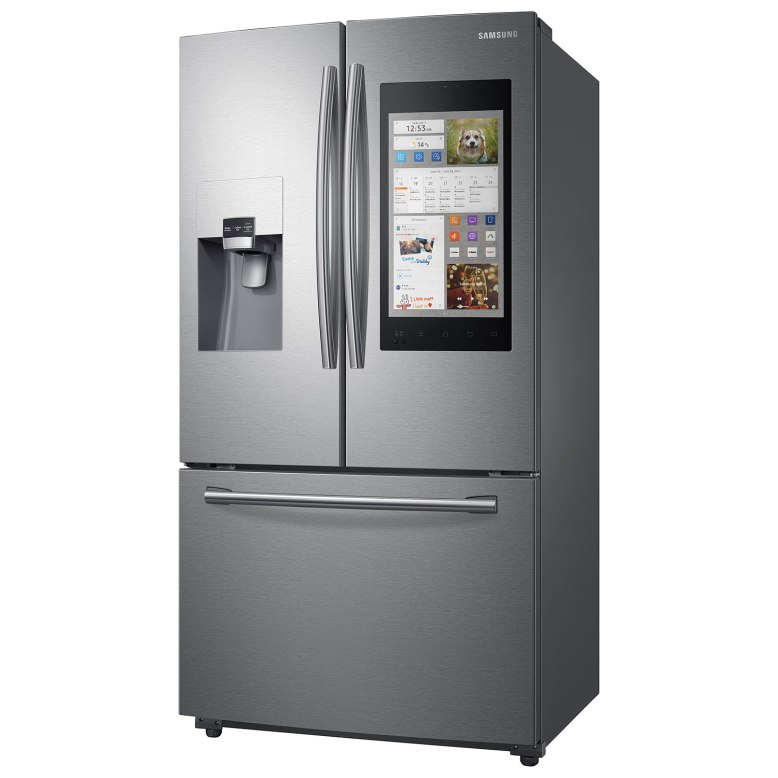Fridge with touch screen